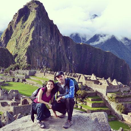 Laura y Álvaro (Bablingua) in Machu Picchu, Peru